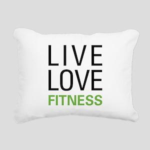 Live Love Fitness Rectangular Canvas Pillow