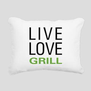 Live Love Grill Rectangular Canvas Pillow