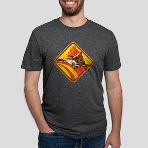 wrecker tow truck car Mens Tri-blend T-Shirt