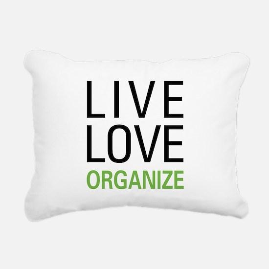 liveorganize.png Rectangular Canvas Pillow