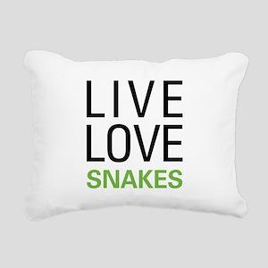 livesnake Rectangular Canvas Pillow