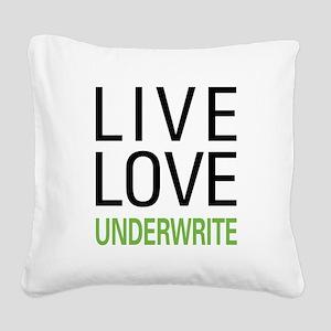 liveunderw Square Canvas Pillow