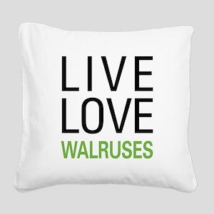 livewalrus Square Canvas Pillow