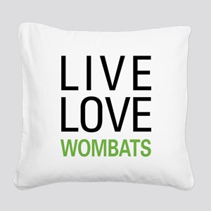 livewombat Square Canvas Pillow
