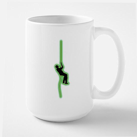 Abseiling Large Mug