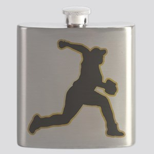 Baseball Pitcher Flask