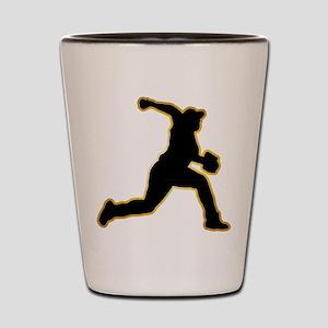 Baseball Pitcher Shot Glass