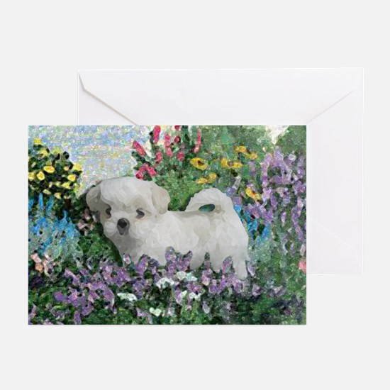Shih Tzu Fine Art LillyW Greeting Cards (Package o