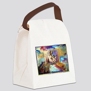 Rhino! wildlife art! Canvas Lunch Bag