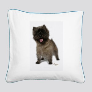 Cairn Terrier Square Canvas Pillow