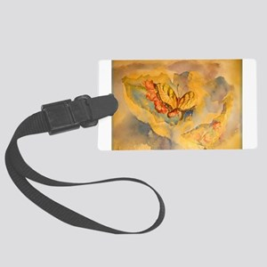Butterfly, colorful art! Large Luggage Tag