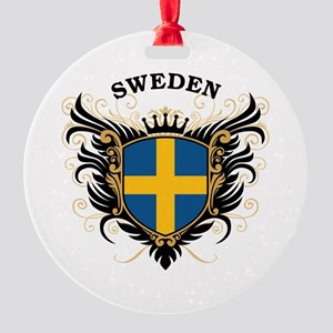 Sweden Round Ornament