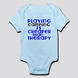 CAmping Is Cheaper Than Therapy Infant Bodysuit