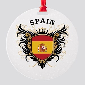Spain Round Ornament