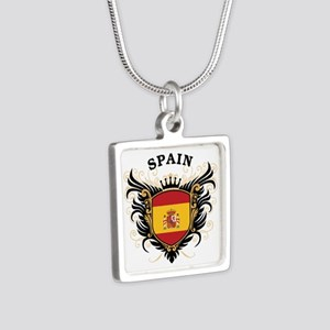 Spain Silver Square Necklace