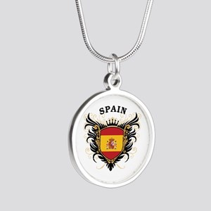 Spain Silver Round Necklace