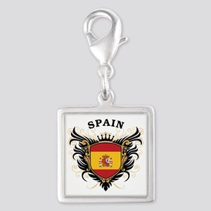 Spain Silver Square Charm