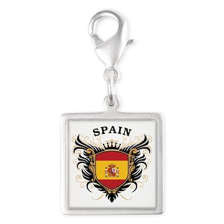 Spain Silver Square Charm