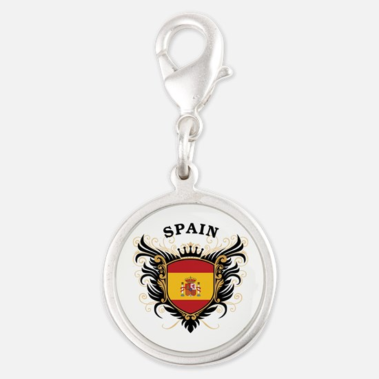 Spain Silver Round Charm
