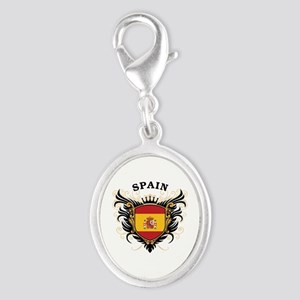 Spain Silver Oval Charm
