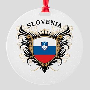 Slovenia Round Ornament