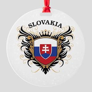 Slovakia Round Ornament