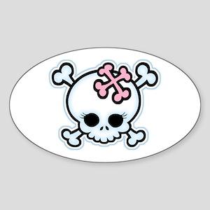 Molly Bones Oval Sticker