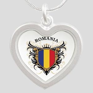 Romania Silver Heart Necklace