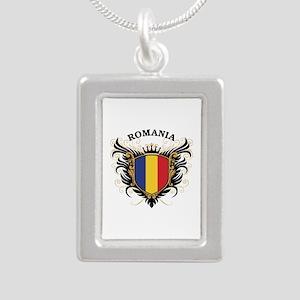 Romania Silver Portrait Necklace