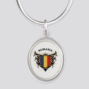 Romania Silver Oval Necklace
