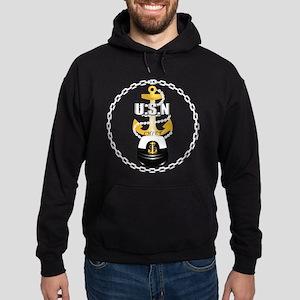 Navy - CPO - Chief - 1 Hoodie (dark)