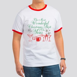 Wonderful Christmas Shirt Ringer T