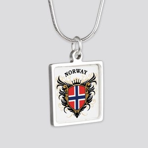 Norway Silver Square Necklace
