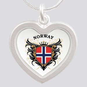 Norway Silver Heart Necklace