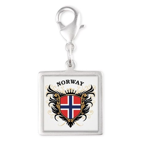 Norway Silver Square Charm
