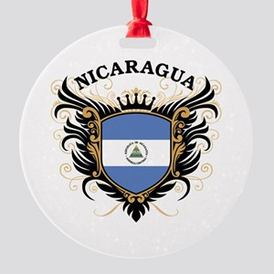 Nicaragua Round Ornament
