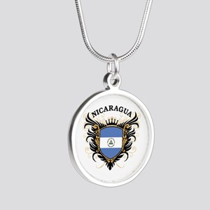 Nicaragua Silver Round Necklace
