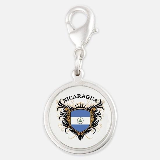 Nicaragua Silver Round Charm