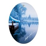 Icy Slide Ornament (Oval)