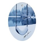 Snow Swing Ornament (Oval)