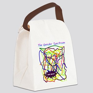 I am here! Canvas Lunch Bag