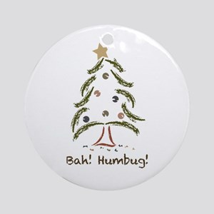 Bah! Humbug! Tree Ornament (Round)