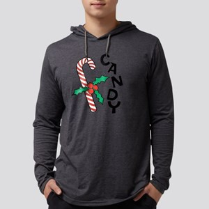 Candy Cane Mens Hooded Shirt