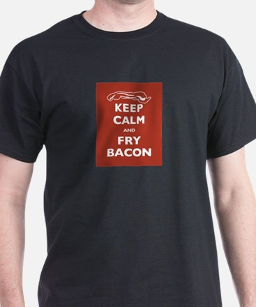 Keep Calm and Fry Bacon T-Shirt