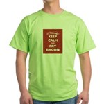 Keep Calm and Fry Bacon Green T-Shirt