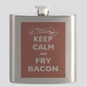 Keep Calm and Fry Bacon Flask