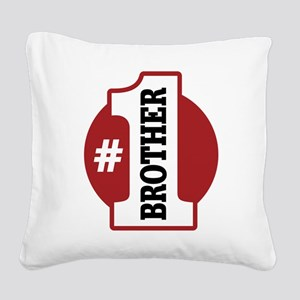 1brother-01 Square Canvas Pillow