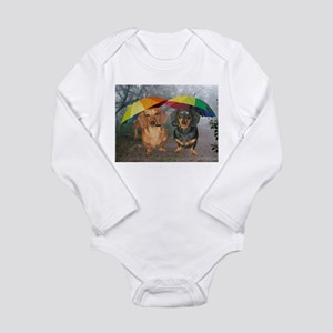 rain umbrella dogs12x16 copy.jpg Long Sleeve Infan