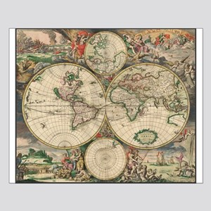 Vintage world map posters cafepress world map 1671 small poster gumiabroncs