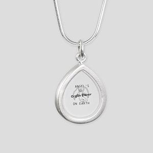 Angel on Earth Silver Teardrop Necklace